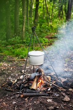 DIY: campfire cooking station