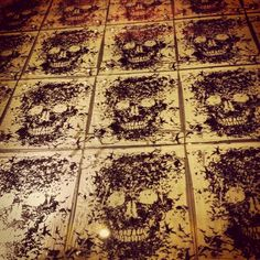 I could die over this tile!!! A bathroom would look awesome with these!
