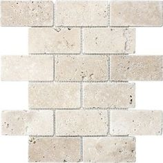 �12-in x 12-in Chiaro Tumbled Natural Stone Mosaic Subway Wall Tile (Actuals 12-in x 12-in) 9.88 12x12