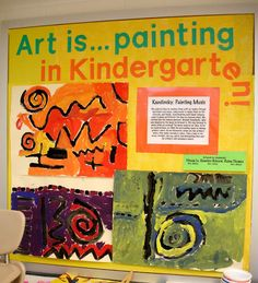 Lo and behold. I did get sick. Head cold, stuffed-up nose, scratchy throat, losing my voice. Seems that my chugging Emergen-C, using t. Kindergarten Art Lessons, Art Lessons Elementary, School Lessons, Art Bulletin Boards, Art Boards, 2nd Grade Art, Art Classroom, Classroom Ideas, Preschool Art