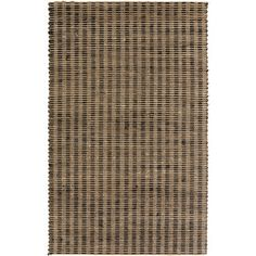 Hand-Woven Iliana Jute Striped Area Rug (8' x 11') - Overstock™ Shopping - Great Deals on 7x9 - 10x14 Rugs