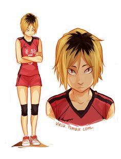 Kenma genderbend by Viria