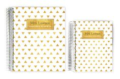 Teacher Planners - Gold Modern Triangle Custom Teacher Planner