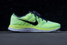 Nike Flyknit Lunar 1  Running Shoe in Volt/Black as seen on Kourtney Kardashian