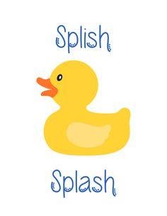 FREE Kid's Bath or Nursery Printables: Rubber Duckie and Cute Turtles! Rubber Duck Bathroom, Baby Bathroom, Baby Shower Duck, Rubber Ducky Baby Shower, Rubber Ducky Birthday, Twin Baby Girls, Cute Turtles, Baby Ducks, Splish Splash