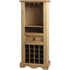Look what I found on Wayfair! Hidden Storage, Storage Shelves, Tall Cabinet Storage, Shelving, Pine Bedroom, Pine Cabinets, Wine Bottle Rack, Wine Racks, Blue Lounge