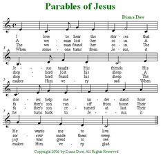 Parables of Jesus by Diana Dow.  A song for young children.