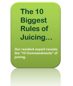 Could be helpful for a new juicer...
