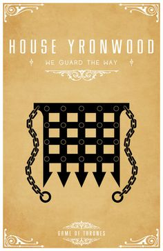 House Yronwood. Game of Thrones house sigils by Tom Gateley. http://www.flickr.com/photos/liquidsouldesign/sets/72157627410677518/