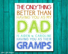 The Ony Thing Better Than Having You As My Dad Grandad Wall Sign Plaque PVC Gift