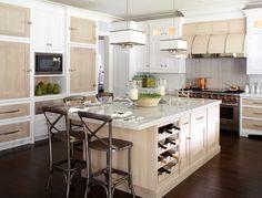 White Kitchen Cabinets with Super White Quartzite Countertops - Transitional - Kitchen Kitchen Interior, Kitchen Island Centerpiece, Kitchen Remodel, Contemporary Kitchen, White Kitchen Cabinets, Home Kitchens, Kitchen Layout, Stools For Kitchen Island, Kitchen Design