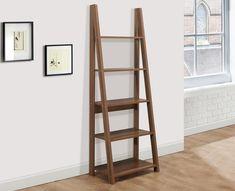 Nordic Walnut Ladder Desk is part of a Scandinavian style range. Ladder Desk, Ladder Bookcase, Scandinavian Style, Home Projects, Shelving, Living Room, Interior Design, Snug, Furniture