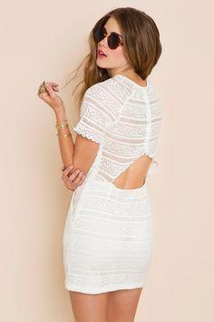 Little white dress. So ready for spring.