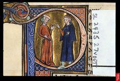 A physician with a pregnant woman, Le Régime du corps, c. 1285