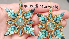 Beaded Jewelry Patterns, Beading Patterns, Earring Tutorial, Jewelry Making Tutorials, Kite, Beaded Earrings, Tatting, Projects To Try, Jewels