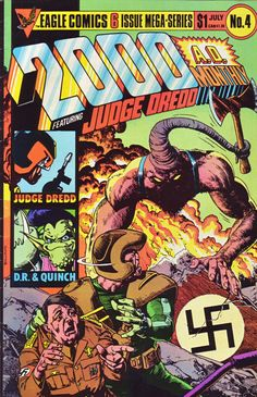 2000 AD Monthly Vol. 1, No. 4 by Nick Landau (Editor), John Wagner (Contributor), Ron Smith (Illustrator), Alan Moore (Contributor), Alan Davis (Illustrator), Alan Grant (Contributor), Carlos Ezquerra (Illustrator).   Eagle Comics, London (July, 1985). 32 pages.