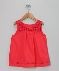 Take a look at this Red Crocheted Tunic - Toddler & Girls by Chic Charlee on #zulily today!