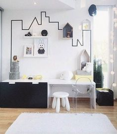 8 Stylish Ikea Hacks For A Black And White Kids Room | The Junior