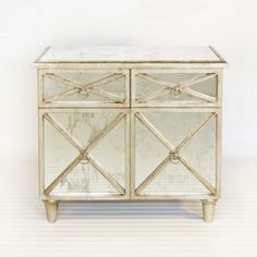 Humphrey Chest Silver Leafed Great Bedside
