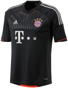 12/13 Bayern Munich Black Away Soccer Jersey Shirt Replica