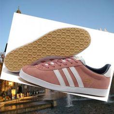 Outlet online Adidas gazzella og donna rosa scarpe da tennis bianche Italia.