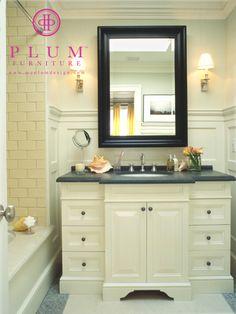 Bathroom Vanity by Colleen McGill of McGill Design Group www..mcgilldesign.ca and Plum Furniture www.myplumdesign.com