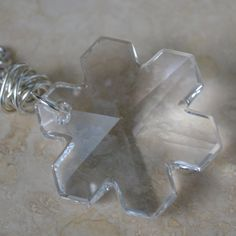 Snowflake Necklace 25mm Swarovski Crystal by SplendorVendor - StyleSays