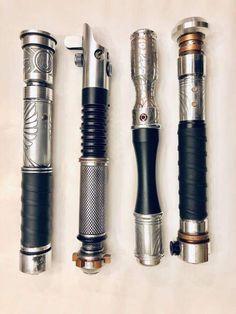 Lightsaber Forms, Lightsaber Design, Custom Lightsaber, Star Wars Rpg, Star Wars Jedi, Armas Ninja, Star Wars Novels, Star Wars Halloween, Star Wars Concept Art