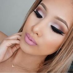 Date Night make up , Natural shadow colors, contour, highlight, lip liner, eyelashes, brow, blush, pro long wear, and BAM ... Gorgeous.