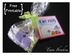 Little easter goodie bag for school friends patelyns board of super easy and way cute easter goodie bags includes free printable designed by negle Image collections