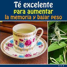 Té excelente para aumentar la memoria y bajar peso Tea Recipes, Healthy Recipes, Bebidas Detox, Weight Control, Detox Tea, Healthy Habits, Aloe Vera, Medicine, Lose Weight