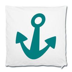 Einfach rauf auf's Schiff und sich die Meeresbrise um die Nase wehen lassen ... geht auch in der Großstadt - mit SCHIFFAHOI • Kissenbezug 40 x 40 cm