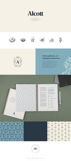 Alcott brand identity design — Spruce Rd. #branding #design #logo Brand Identity Design, Branding Design, Logo Design, Logo Branding, Logos, Design Process, Logo Inspiration, Innovation, Homeschool