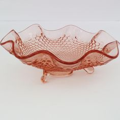 Lovely pink Depression Glass candy dish....