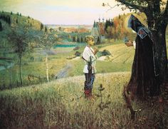 "To Celebrate St Sergius Day:  Mikhail Nesterov's ""The Vision of young Bartholomew"" 1889/90"