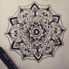 Instagram media by nadel.tante - #doodle #mandalatattoo #mandala #tattoo #skizze #sketch #newtattoo #ink #stippling #dotwork #art #artwork