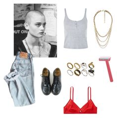 """""""EMPIRE RECORDS - DEBRA"""" by matilda-ignacia ❤ liked on Polyvore featuring Topshop, Dr. Martens, ASOS and Forever 21"""