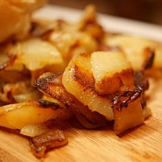 Perfect Fried Potatoes and Onions | A Pinch of Adventure Russet Potatoes, Sliced Potatoes, Best Fried Potatoes, Perfect Fry, Potato Recipes, Onions, Fries, Side Dishes, Vegetarian