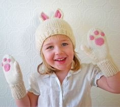 sock, bunni paw, paw mitten, daughter, children, easter bunny, hat, kid, easter ideas