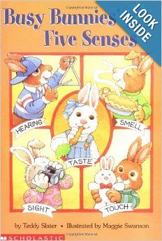 Busy Bunnies' Five Senses (Hello Readers'. Science. Level 1): Teddy Slater, Maggie Swanson: 9780439099103: Amazon.com: Books  #runawaybunny #carrotseed