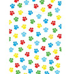 Puppy Paw Ty Time Loot Bags : Featuring Cute Paw Prints, Our Co Ordinating  Themed Plastic Loot Bags Feature A Handle For Easy Carrying And Plenty Of  Space ...