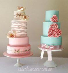 Wedding cakes - hearts ruffles