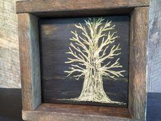 Rustic Tree Art, Moonlight Art, Fall Home Decor, Oak Tree, Autumn, Halloween, Night Sky, Cabin Decor, Wall Art, Shelf, Mantle, Moon Art