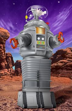 An illustration of the B9 robot, from the 1960's TV series, Lost in Space. ❣Julianne McPeters❣ no pin limits