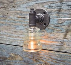 Glass Insulator Wall Sconce Light NEW DESIGN by luceantica on Etsy, $42.99