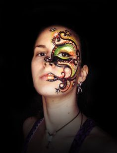 DeviantArt: More Artists Like Testing Face painting. by blue-sheep