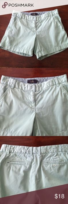 """J. Crew shorts J. Crew chino shorts that are 100% cotton. These have a 5"""" inch inseam. Washed these once, never worn. Great condition!!!! J. Crew Shorts"""