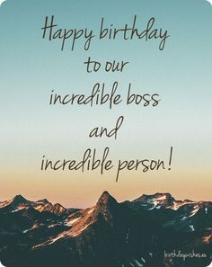 Happy birthday boss quotes, messages and greeting cards. Check out this great collection of professional birthday wishes for boss with images. Happy Birthday Boss Quotes, Birthday Message For Boss, Birthday Wishes For A Friend Messages, Birthday Quotes For Daughter, Birthday Quotes For Best Friend, Birthday Wishes Quotes, Best Friend Quotes, Husband Birthday, Cousin Quotes