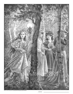 Princesses in the Magical ForestSet of 4 by RuthSandersonArt