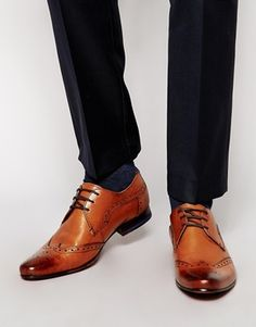 Ted Baker Hann Wing Tip Derby Shoes